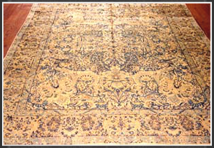 Kerman rugs are woven in the city of Kerman in southeastern Iran and several small towns and villages in the vicinity. The pattern of Kerman rugs is almost always curvilinear with the exception of the famous Kerman pictorials which fall under the pictorial category of pattern. Kerman rugs are woven in a variety of intricate designs from cartoons.
