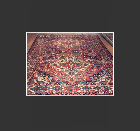 "Bakhtiari rugs are mostly woven with the symmetric (Turkish) knot although in Shahr-e-Kurd, the capital city of the Chahar Mahai and Bakhtiari province, weavers use the asymmetric (Persian) knot. Even though Bakhtiari rugs are usually marketed under Bakhitiari, sometimes they may be sold under the specific village name where they are woven such as Chahal SShotur, Saman, or Farah Dumbah. The very fine-knotted Bakhtiari rugs are sometimes referred to as Bibibaffs, which means ""woven by a woman"" in Persian."